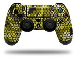 Vinyl Decal Skin Wrap compatible with Sony PlayStation 4 Dualshock Controller HEX Mesh Camo 01 Yellow (PS4 CONTROLLER NOT INCLUDED)