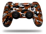 Skin Wrap for Sony PS4 Dualshock Controller WraptorCamo Digital Camo Burnt Orange (CONTROLLER NOT INCLUDED)