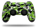 Vinyl Decal Skin Wrap compatible with Sony PlayStation 4 Dualshock Controller WraptorCamo Digital Camo Neon Green (PS4 CONTROLLER NOT INCLUDED)