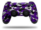 Vinyl Skin Wrap for Sony PS4 Dualshock Controller WraptorCamo Digital Camo Purple (CONTROLLER NOT INCLUDED)