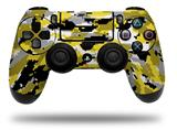 Vinyl Decal Skin Wrap compatible with Sony PlayStation 4 Dualshock Controller WraptorCamo Digital Camo Yellow (PS4 CONTROLLER NOT INCLUDED)