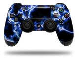 WraptorSkinz Skin compatible with Sony PS4 Dualshock Controller PlayStation 4 Original Slim and Pro Electrify Blue (CONTROLLER NOT INCLUDED)