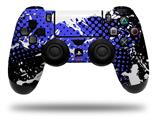 Vinyl Skin Wrap for Sony PS4 Dualshock Controller Halftone Splatter White Blue (CONTROLLER NOT INCLUDED)