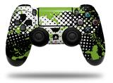 Vinyl Decal Skin Wrap compatible with Sony PlayStation 4 Dualshock Controller Halftone Splatter Green White (PS4 CONTROLLER NOT INCLUDED)