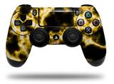 Vinyl Decal Skin Wrap compatible with Sony PlayStation 4 Dualshock Controller Electrify Yellow (PS4 CONTROLLER NOT INCLUDED)