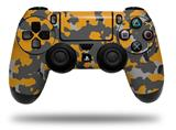 Vinyl Decal Skin Wrap compatible with Sony PlayStation 4 Dualshock Controller WraptorCamo Old School Camouflage Camo Orange (PS4 CONTROLLER NOT INCLUDED)