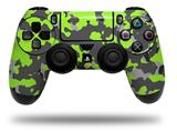 Vinyl Skin Wrap for Sony PS4 Dualshock Controller WraptorCamo Old School Camouflage Camo Lime Green (CONTROLLER NOT INCLUDED)