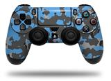 Vinyl Decal Skin Wrap compatible with Sony PlayStation 4 Dualshock Controller WraptorCamo Old School Camouflage Camo Blue Medium (PS4 CONTROLLER NOT INCLUDED)