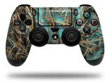 Vinyl Skin Wrap for Sony PS4 Dualshock Controller WraptorCamo Grassy Marsh Camo Neon Teal (CONTROLLER NOT INCLUDED)