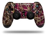 Vinyl Skin Wrap for Sony PS4 Dualshock Controller WraptorCamo Grassy Marsh Camo Neon Fuchsia Hot Pink (CONTROLLER NOT INCLUDED)