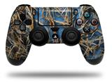 WraptorSkinz Skin compatible with Sony PS4 Dualshock Controller PlayStation 4 Original Slim and Pro WraptorCamo Grassy Marsh Camo Neon Blue (CONTROLLER NOT INCLUDED)