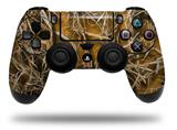 WraptorSkinz Skin compatible with Sony PS4 Dualshock Controller PlayStation 4 Original Slim and Pro WraptorCamo Grassy Marsh Camo Orange (CONTROLLER NOT INCLUDED)