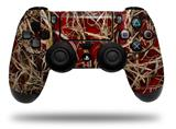Vinyl Decal Skin Wrap compatible with Sony PlayStation 4 Dualshock Controller WraptorCamo Grassy Marsh Camo Red (PS4 CONTROLLER NOT INCLUDED)