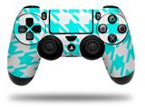 Vinyl Skin Wrap for Sony PS4 Dualshock Controller Houndstooth Neon Teal (CONTROLLER NOT INCLUDED)
