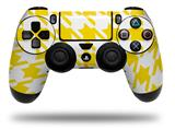 WraptorSkinz Skin compatible with Sony PS4 Dualshock Controller PlayStation 4 Original Slim and Pro Houndstooth Yellow (CONTROLLER NOT INCLUDED)