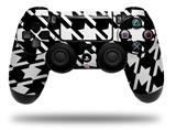 Vinyl Decal Skin Wrap compatible with Sony PlayStation 4 Dualshock Controller Houndstooth White (PS4 CONTROLLER NOT INCLUDED)