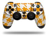 Vinyl Decal Skin Wrap compatible with Sony PlayStation 4 Dualshock Controller Houndstooth Orange (PS4 CONTROLLER NOT INCLUDED)