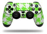 WraptorSkinz Skin compatible with Sony PS4 Dualshock Controller PlayStation 4 Original Slim and Pro Houndstooth Neon Lime Green (CONTROLLER NOT INCLUDED)