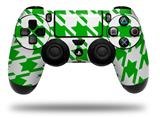 Vinyl Decal Skin Wrap compatible with Sony PlayStation 4 Dualshock Controller Houndstooth Green (PS4 CONTROLLER NOT INCLUDED)