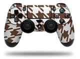 Vinyl Decal Skin Wrap compatible with Sony PlayStation 4 Dualshock Controller Houndstooth Chocolate Brown (PS4 CONTROLLER NOT INCLUDED)