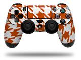 WraptorSkinz Skin compatible with Sony PS4 Dualshock Controller PlayStation 4 Original Slim and Pro Houndstooth Burnt Orange (CONTROLLER NOT INCLUDED)