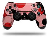 Vinyl Decal Skin Wrap compatible with Sony PlayStation 4 Dualshock Controller Lots of Dots Red on Pink (PS4 CONTROLLER NOT INCLUDED)