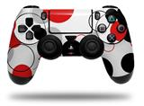 Vinyl Decal Skin Wrap compatible with Sony PlayStation 4 Dualshock Controller Lots of Dots Red on White (PS4 CONTROLLER NOT INCLUDED)