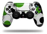 Vinyl Decal Skin Wrap compatible with Sony PlayStation 4 Dualshock Controller Lots of Dots Green on White (PS4 CONTROLLER NOT INCLUDED)
