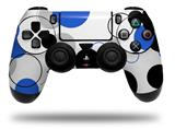 Vinyl Skin Wrap for Sony PS4 Dualshock Controller Lots of Dots Blue on White (CONTROLLER NOT INCLUDED)