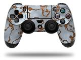 WraptorSkinz Skin compatible with Sony PS4 Dualshock Controller PlayStation 4 Original Slim and Pro Rusted Metal (CONTROLLER NOT INCLUDED)