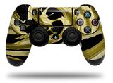 WraptorSkinz Skin compatible with Sony PS4 Dualshock Controller PlayStation 4 Original Slim and Pro Alecias Swirl 02 Yellow (CONTROLLER NOT INCLUDED)