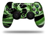 Vinyl Decal Skin Wrap compatible with Sony PlayStation 4 Dualshock Controller Alecias Swirl 02 Green (PS4 CONTROLLER NOT INCLUDED)