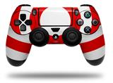 Vinyl Skin Wrap for Sony PS4 Dualshock Controller Bullseye Red and White (CONTROLLER NOT INCLUDED)