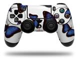 Skin Wrap for Sony PS4 Dualshock Controller Butterflies Blue (CONTROLLER NOT INCLUDED)