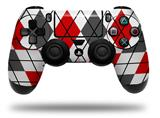 WraptorSkinz Skin compatible with Sony PS4 Dualshock Controller PlayStation 4 Original Slim and Pro Argyle Red and Gray (CONTROLLER NOT INCLUDED)