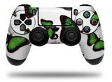 Vinyl Decal Skin Wrap compatible with Sony PlayStation 4 Dualshock Controller Butterflies Green (PS4 CONTROLLER NOT INCLUDED)
