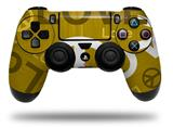 Vinyl Decal Skin Wrap compatible with Sony PlayStation 4 Dualshock Controller Love and Peace Yellow (PS4 CONTROLLER NOT INCLUDED)