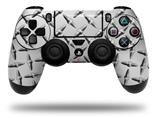 Vinyl Skin Wrap for Sony PS4 Dualshock Controller Diamond Plate Metal (CONTROLLER NOT INCLUDED)