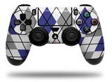 Skin Wrap for Sony PS4 Dualshock Controller Argyle Blue and Gray (CONTROLLER NOT INCLUDED)
