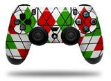 Vinyl Skin Wrap for Sony PS4 Dualshock Controller Argyle Red and Green (CONTROLLER NOT INCLUDED)
