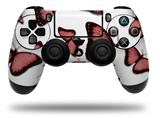 Vinyl Skin Wrap for Sony PS4 Dualshock Controller Butterflies Pink (CONTROLLER NOT INCLUDED)