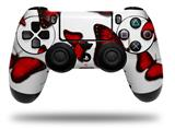 WraptorSkinz Skin compatible with Sony PS4 Dualshock Controller PlayStation 4 Original Slim and Pro Butterflies Red (CONTROLLER NOT INCLUDED)