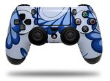 Vinyl Skin Wrap for Sony PS4 Dualshock Controller Petals Blue (CONTROLLER NOT INCLUDED)