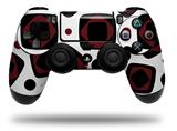 Vinyl Skin Wrap for Sony PS4 Dualshock Controller Red And Black Squared (CONTROLLER NOT INCLUDED)