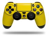 Vinyl Decal Skin Wrap compatible with Sony PlayStation 4 Dualshock Controller Solids Collection Yellow (PS4 CONTROLLER NOT INCLUDED)