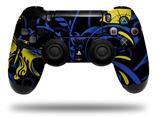 Vinyl Skin Wrap for Sony PS4 Dualshock Controller Twisted Garden Blue and Yellow (CONTROLLER NOT INCLUDED)