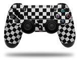 Skin Wrap for Sony PS4 Dualshock Controller Checkered Canvas Black and White (CONTROLLER NOT INCLUDED)