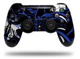 Skin Wrap for Sony PS4 Dualshock Controller Twisted Garden Blue and White (CONTROLLER NOT INCLUDED)