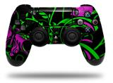 Vinyl Decal Skin Wrap compatible with Sony PlayStation 4 Dualshock Controller Twisted Garden Green and Hot Pink (PS4 CONTROLLER NOT INCLUDED)
