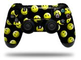Skin Wrap for Sony PS4 Dualshock Controller Smileys on Black (CONTROLLER NOT INCLUDED)